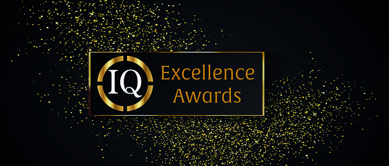 IQ Excellence Awards Logo Glittered