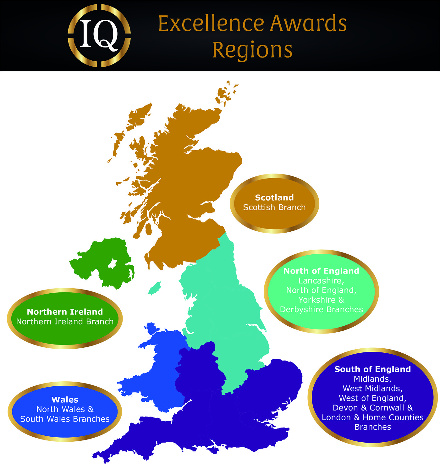 IQ Excellence Awards Regions
