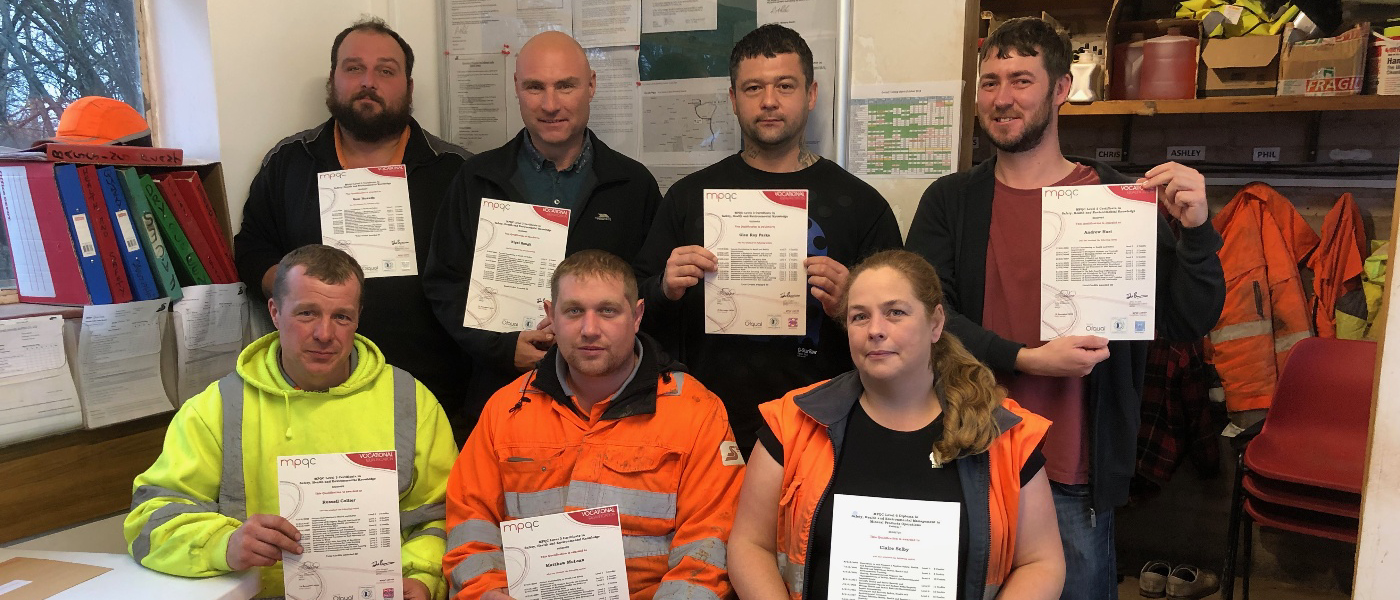 Salop Sand and Gravel L3 SHE Certificates
