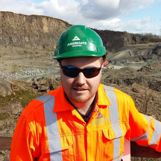 Stuart Laird Assistant Trainee Quarry Manager